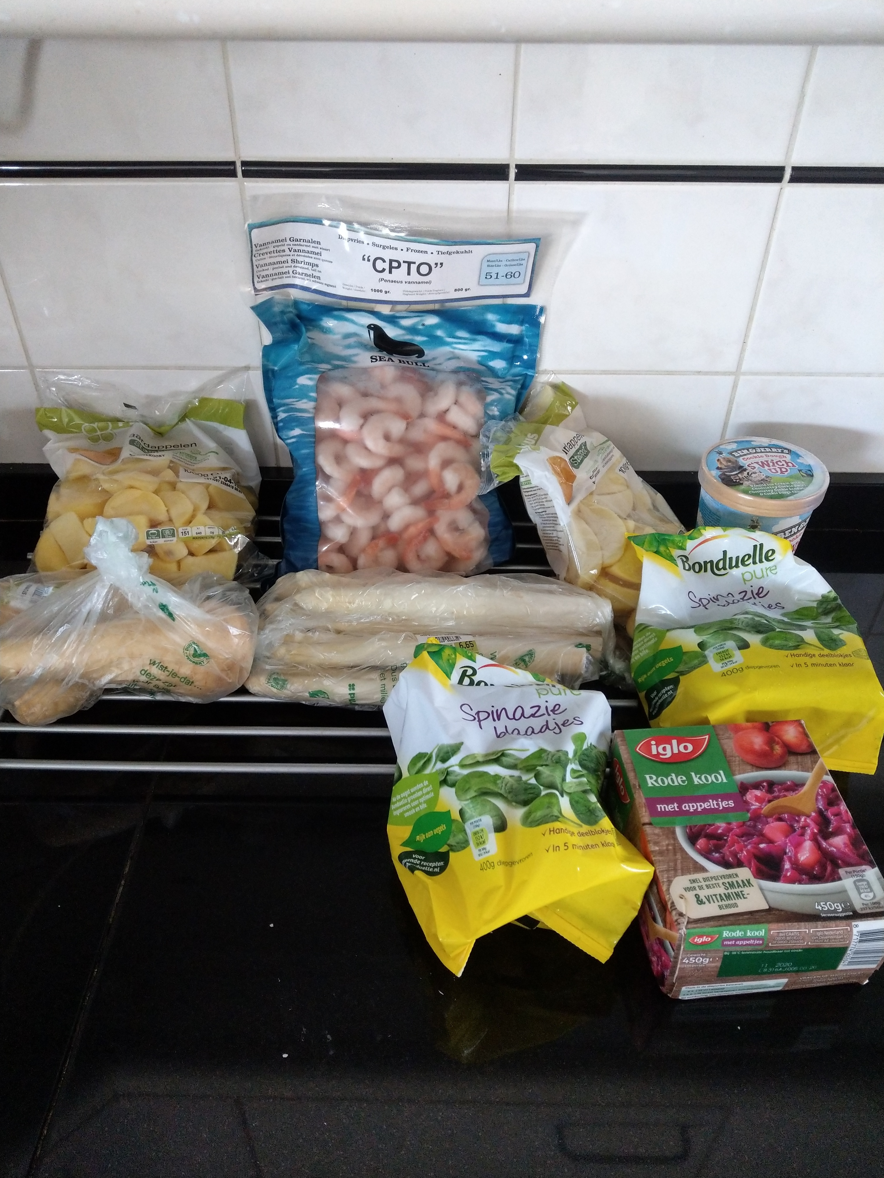 Ingredients semi-simple three course meal